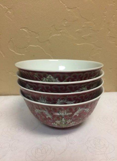 Set Of 4 Antique Soup Bowls