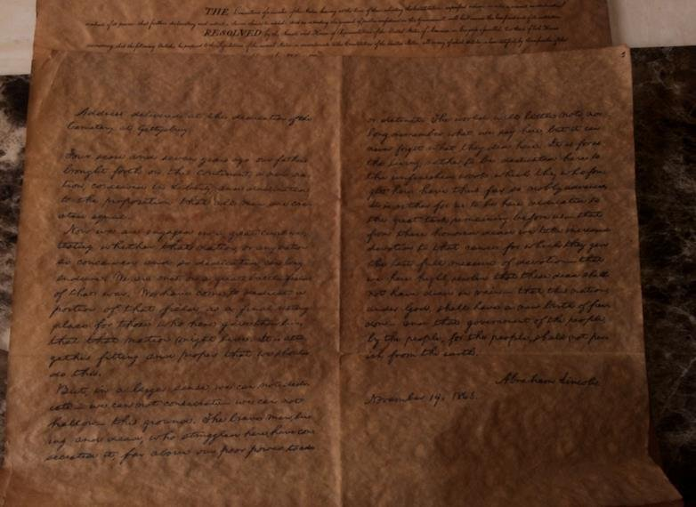 Antique Copy Of The Declaration Of Independence - 2