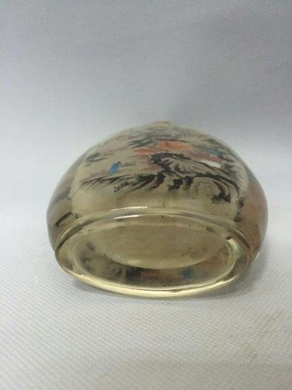 Qing Dynasty Snuff Bottle Glass - 5