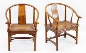 A Pair of Chinese Horseshoe Chairs.