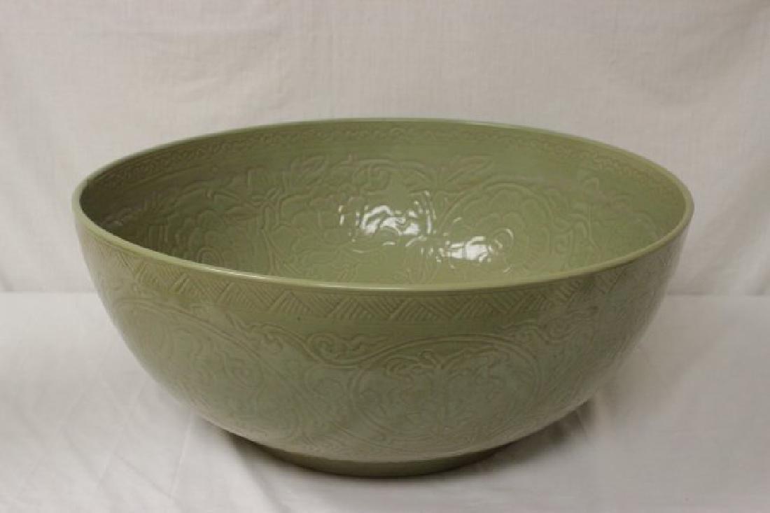 Huge Chinese celadon porcelain bowl