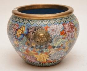 Intricate detailed cloisonna on stand