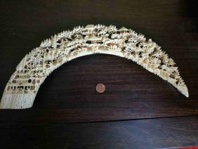 A Chinese exquisite hollow tooth carving