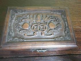 A Chinese fine exquisite carved wooden box