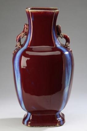 Large Chinese red glazed vase