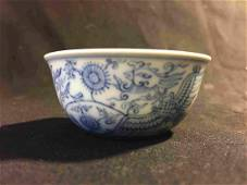 Qing style blue and white cup