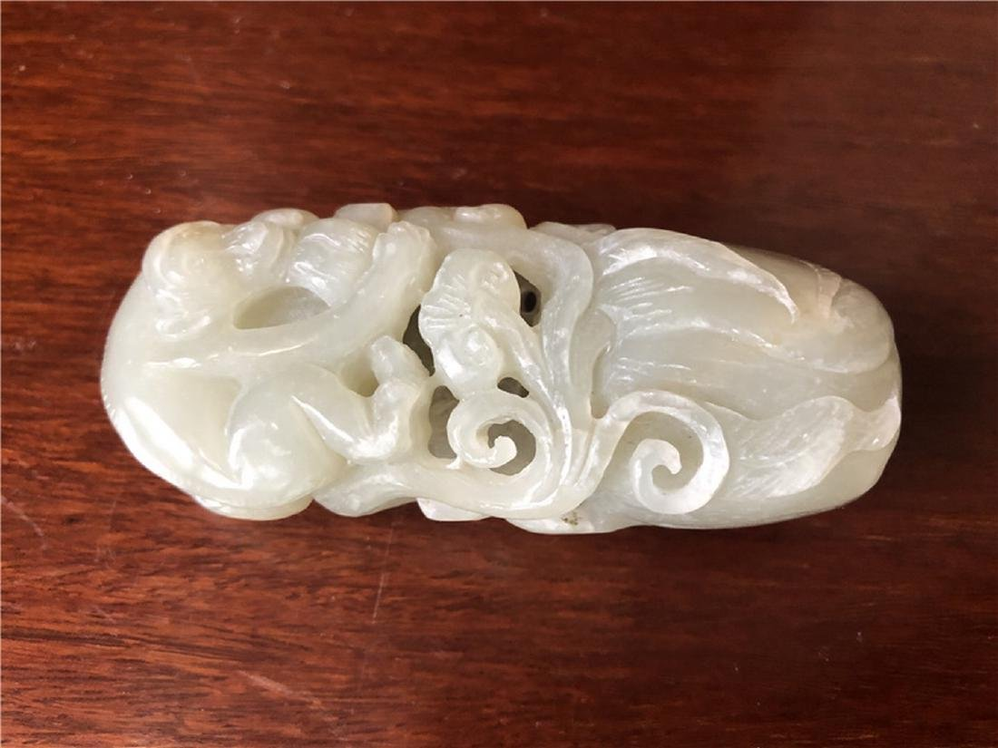 A fine Chinese Jade with Monkey and RUYI