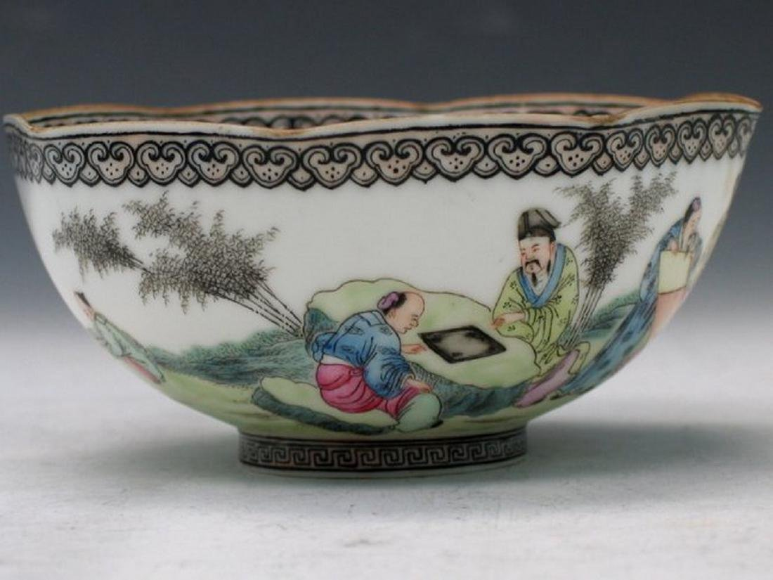 Chinese Egg Shell Famille Rose Porcelain Bowl, Qianlong - 2