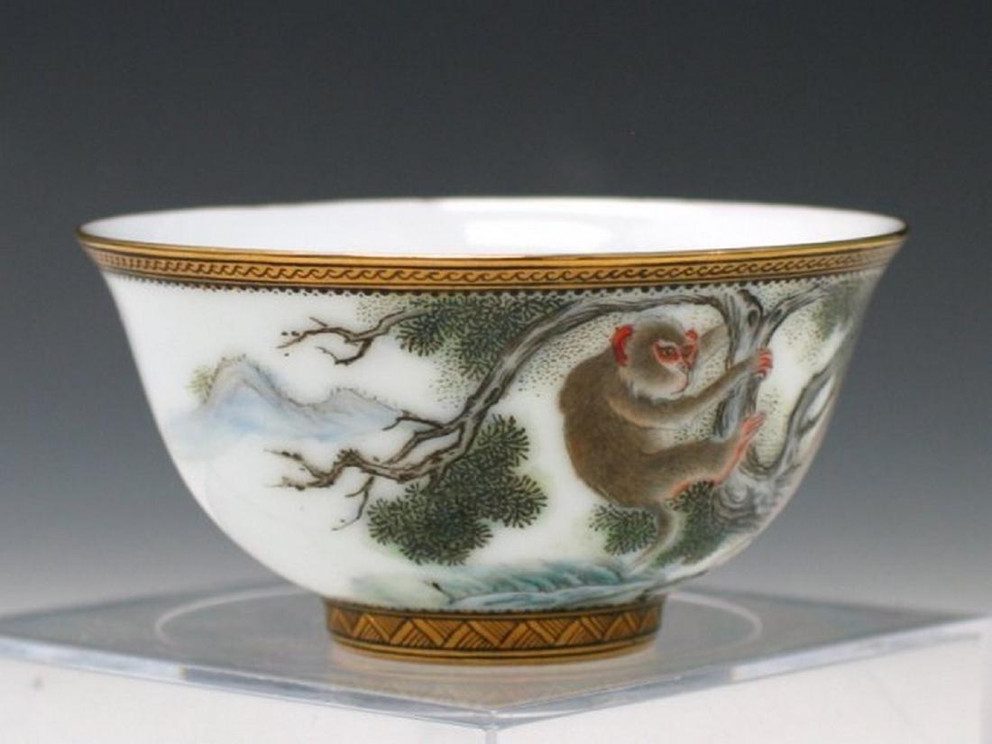 Chinese Enameled Porcelain Bowl. - 2