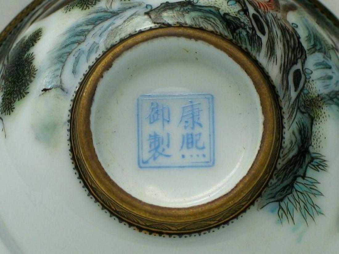 Chinese Enameled Porcelain Bowl. - 4