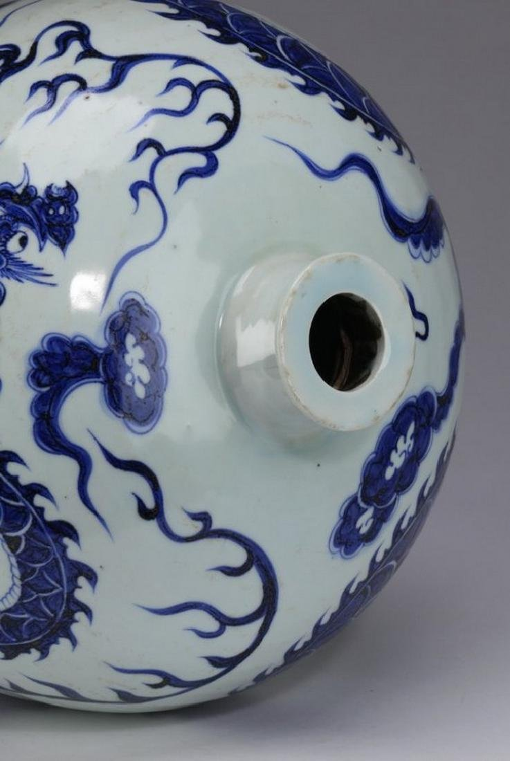"""Chinese meiping vase, dragon motif, 22""""h - 5"""