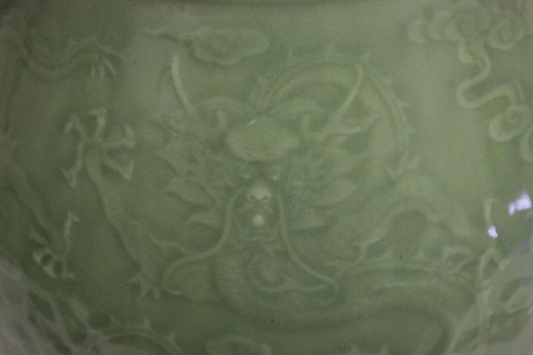 Chinese celadon jar with deer motif handles - 3