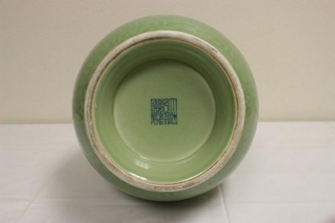Chinese celadon jar with deer motif handles - 4