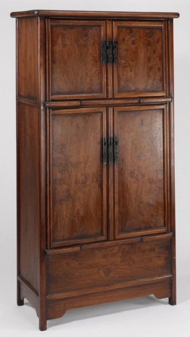 """Chinese wooden compound cabinet, 70""""h"""