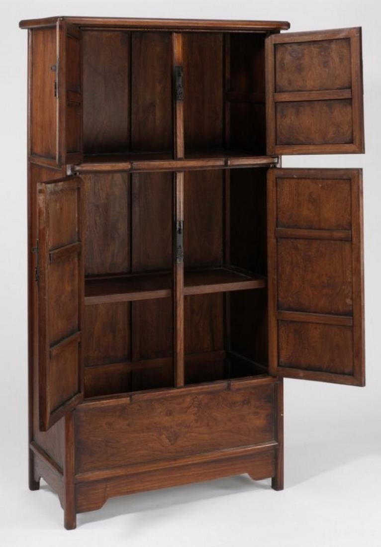 """Chinese wooden compound cabinet, 70""""h - 3"""