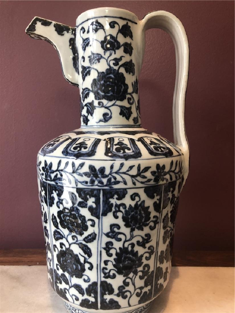 "Chinese Ming style ewer, Xuande mark, 14""h - 7"