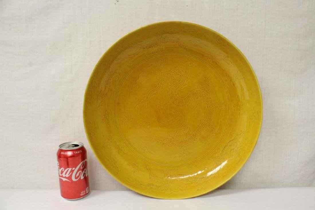 A large porcelain charger