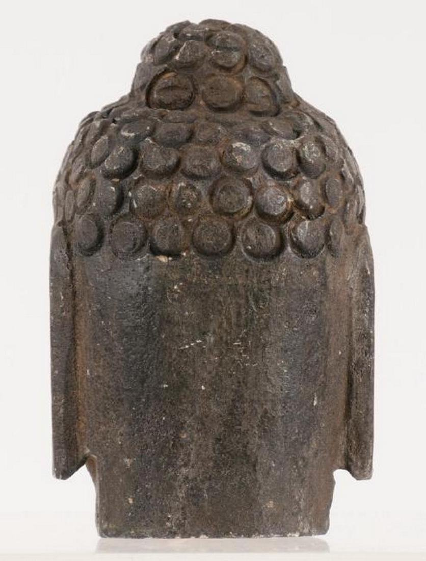 buddha head H: 5 inches, probability from Qing Dynasty - 2