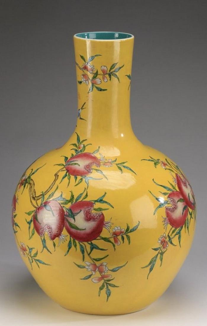 Chinese porcelain stick neck vase, Qianlong