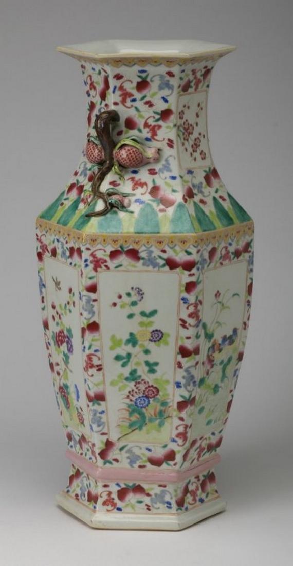Famille rose porcelain vase, Jiaqing seal - 3