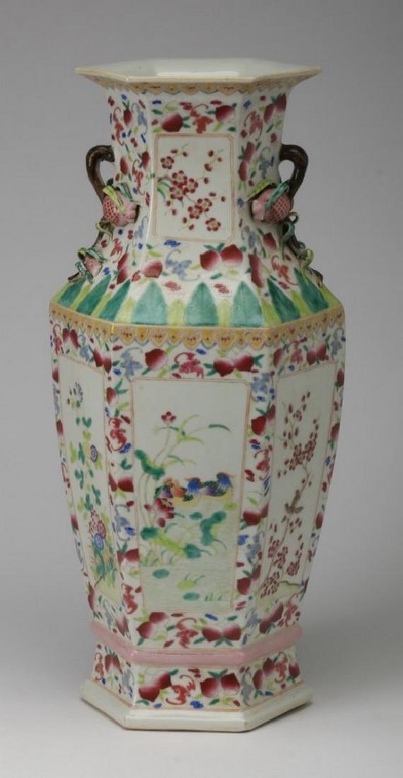 Famille rose porcelain vase, Jiaqing seal - 4