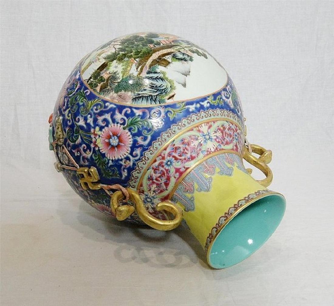 Large Chinese Famille Rose Porcelain Vase With Mark - 3