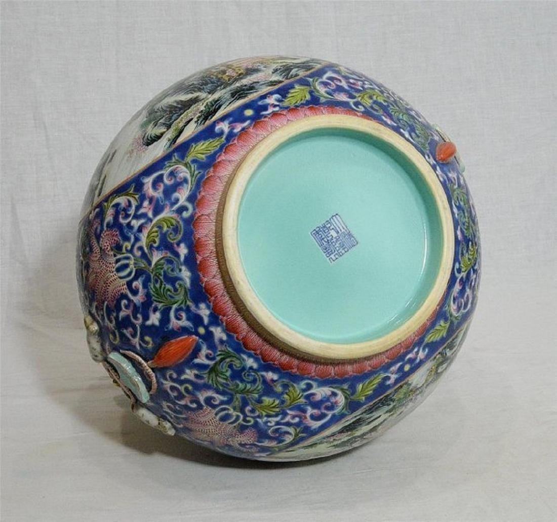 Large Chinese Famille Rose Porcelain Vase With Mark - 5