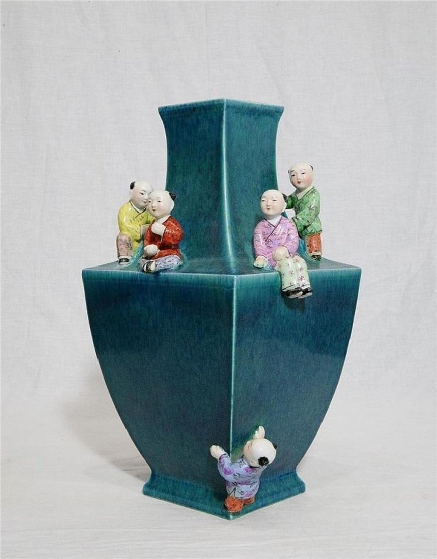 Chinese Lu-Jun Porcelain Vase With Mark
