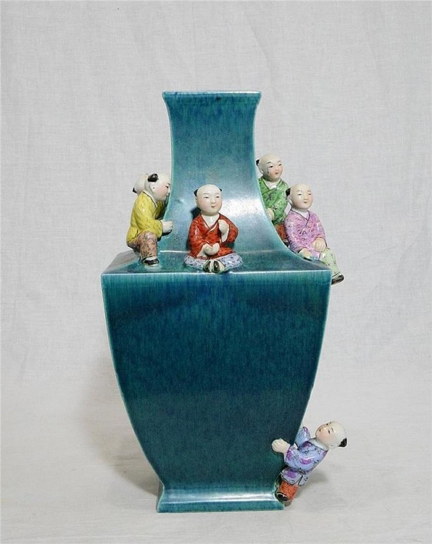 Chinese Lu-Jun Porcelain Vase With Mark - 2