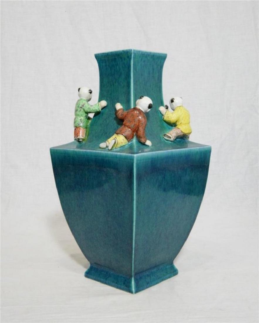 Chinese Lu-Jun Porcelain Vase With Mark - 4