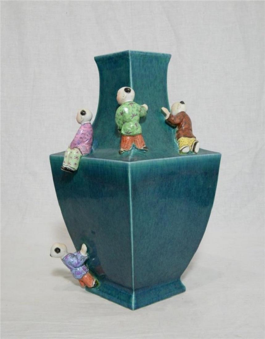 Chinese Lu-Jun Porcelain Vase With Mark - 5