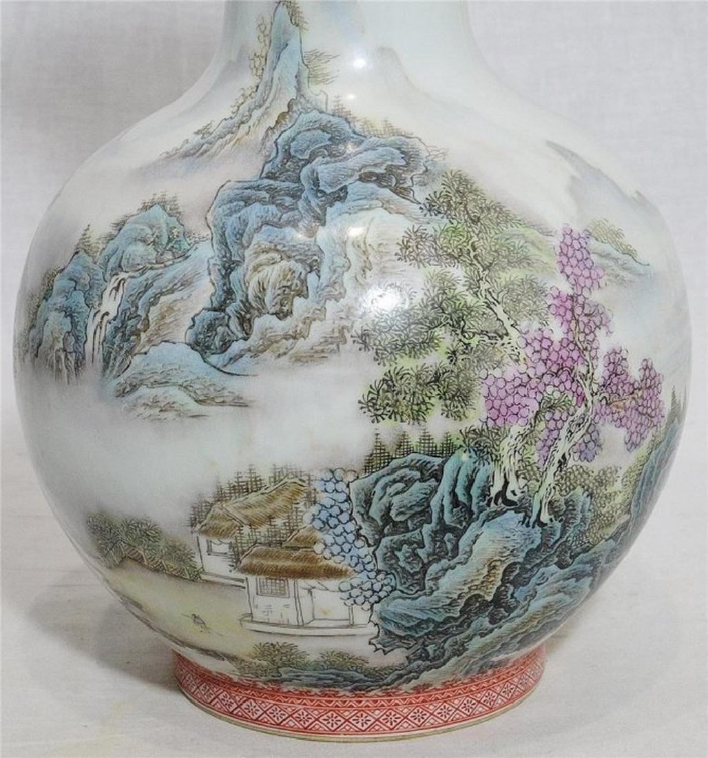 Chinese Famille Rose Porcelain Vase With Studio Mark - 2