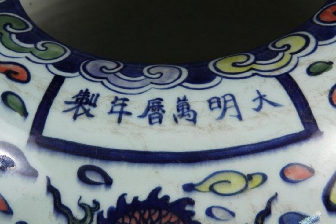CHINESE PORCELAIN LARGE JARDINIERE - Qing Dynasty Style - 2