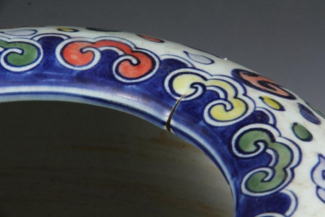 CHINESE PORCELAIN LARGE JARDINIERE - Qing Dynasty Style - 3