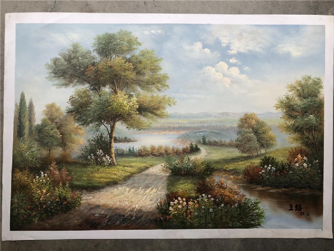 Canvas oil painting of landscape