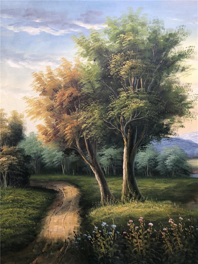 Canvas oil painting of landscape - 2