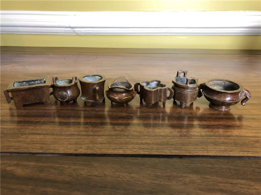 7 pieces of small incense burner