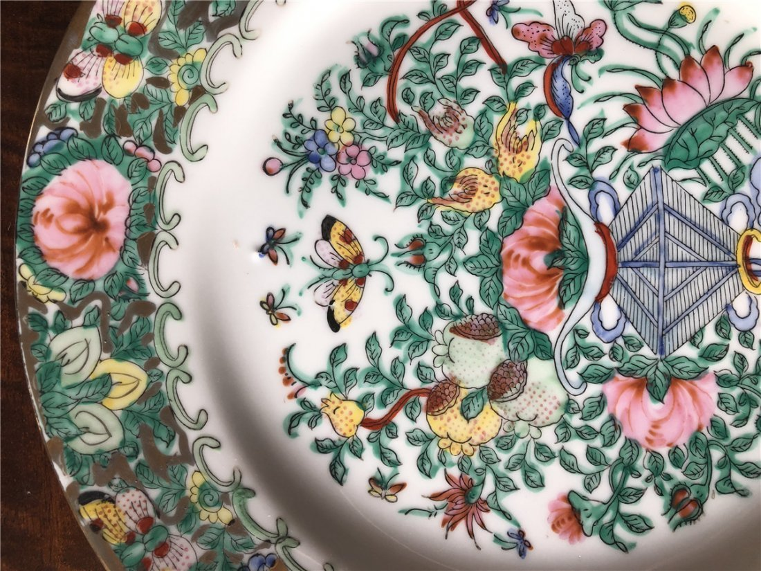 A pair of fine export plates, beautiful painted - 3