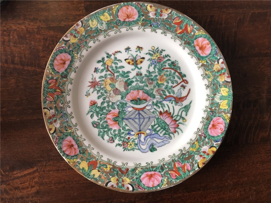 A pair of fine export plates, beautiful painted - 5