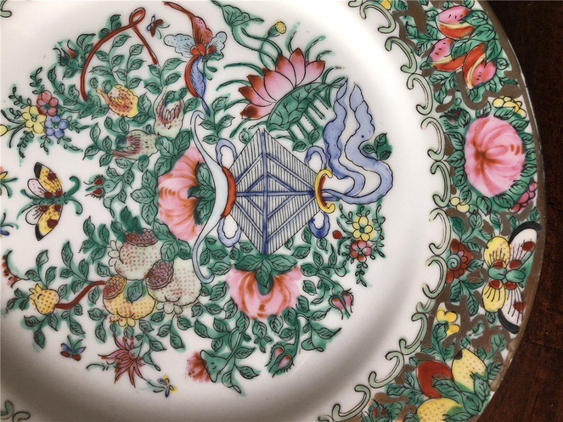 A pair of fine export plates, beautiful painted - 6
