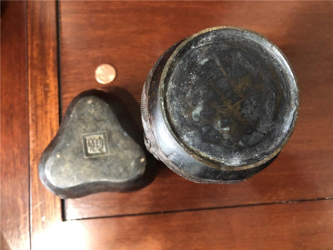 2 Bronze incense burner - 2