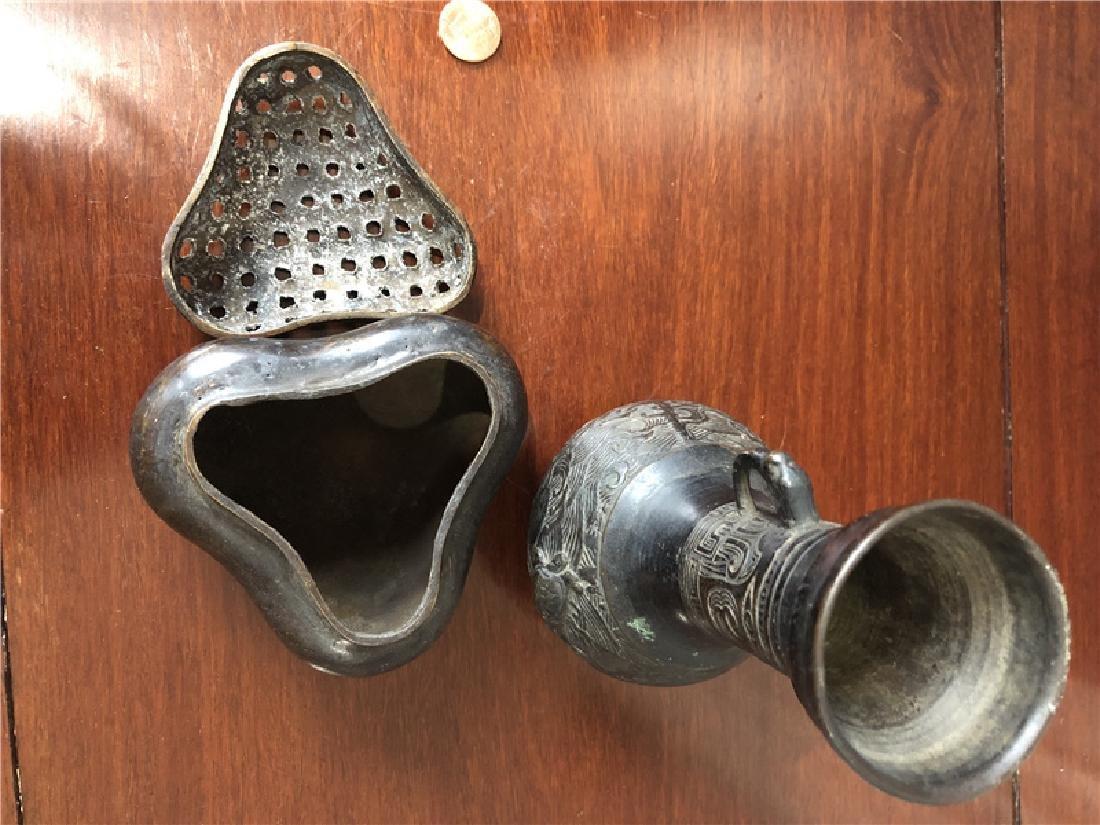2 Bronze incense burner - 3
