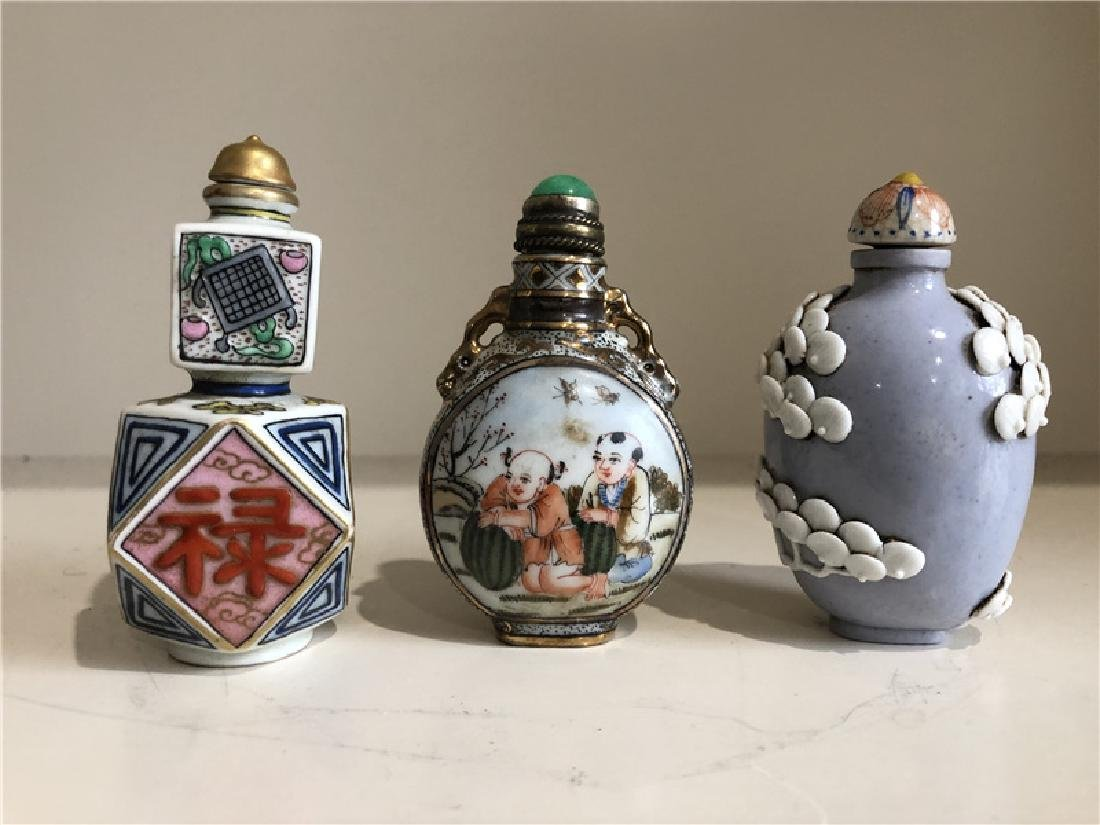 3 pieces of fine Chinese snuff bottle
