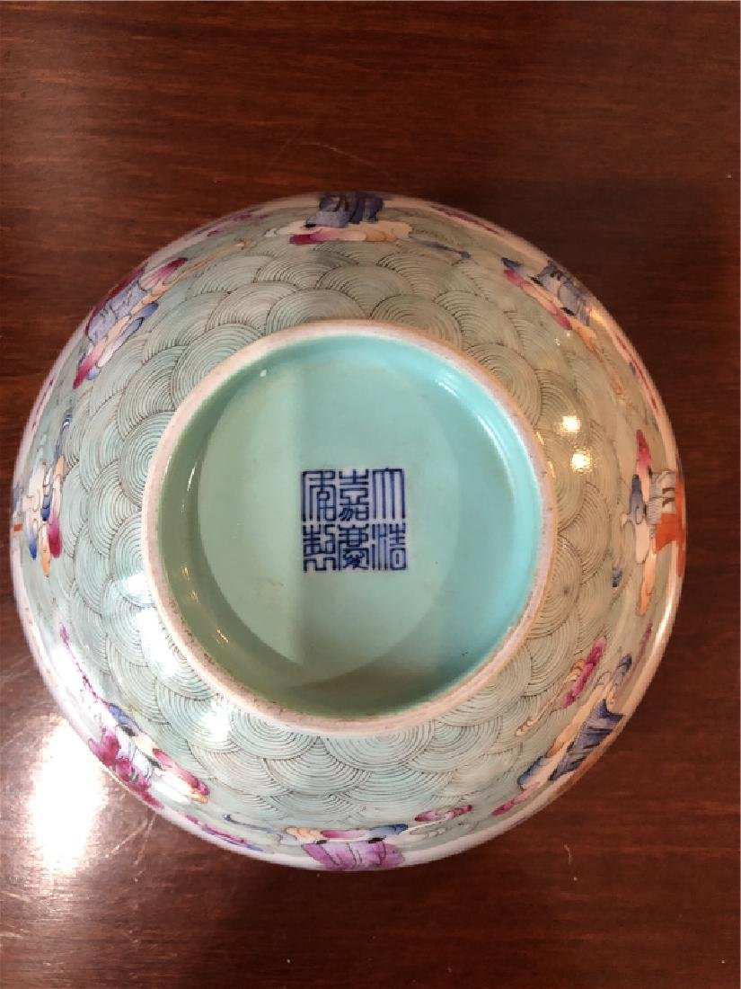 A fine Chinese porcelain bowl with painting - 3