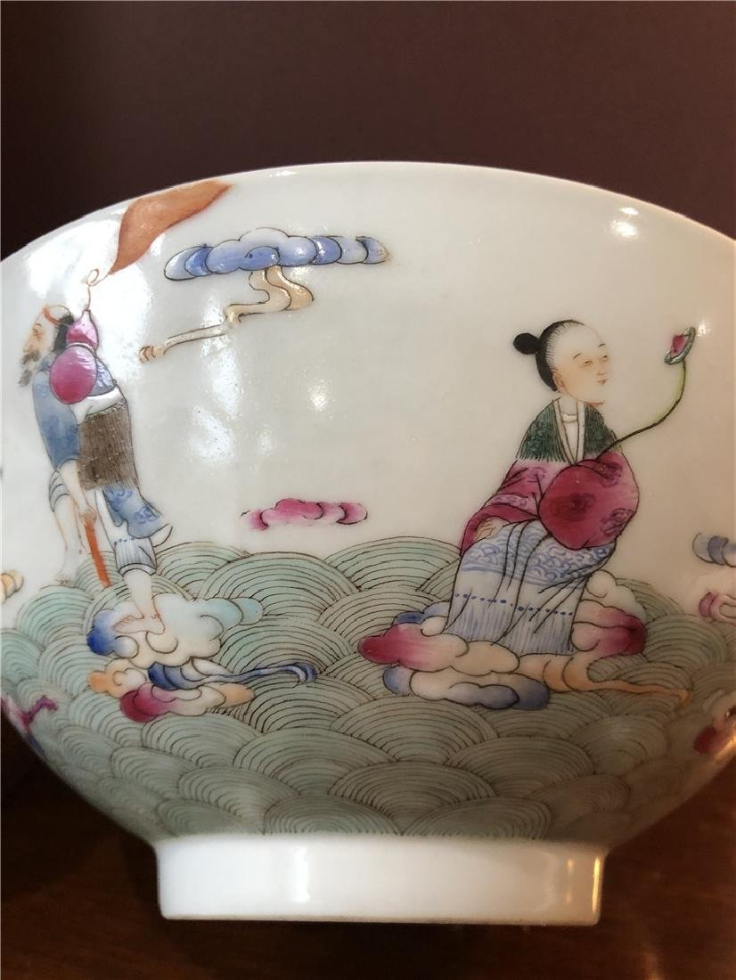 A fine Chinese porcelain bowl with painting - 6