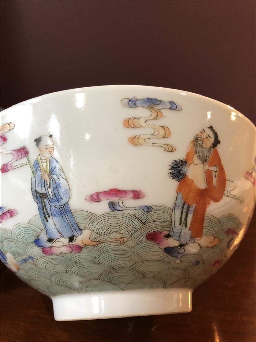 A fine Chinese porcelain bowl with painting - 8