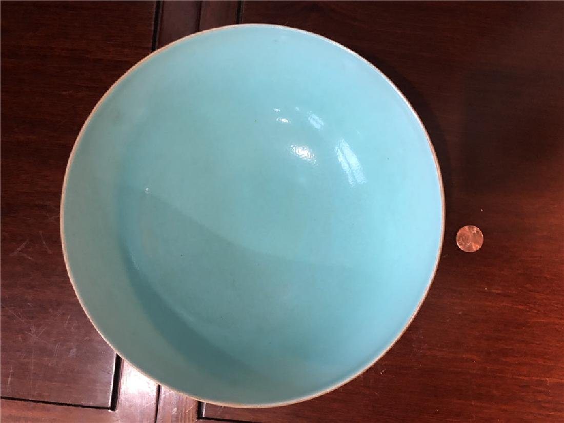 Large Chinese blue bowl with golden painting - 2