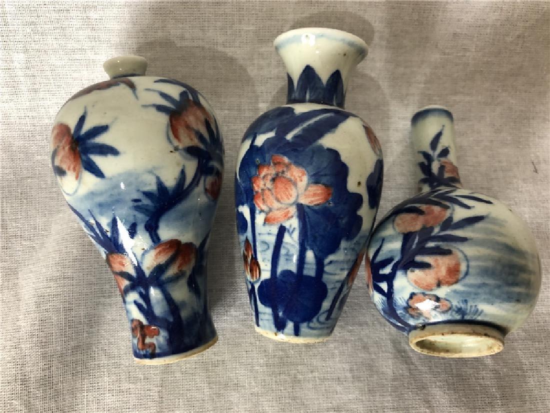 3 pieces of fine porcelain snuff bottle - 4