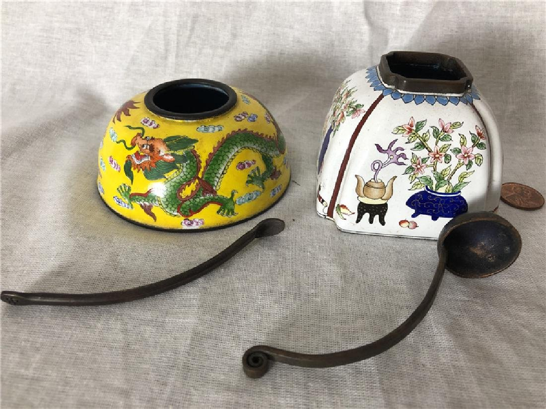 Two pieces of copper cloisonne - 2