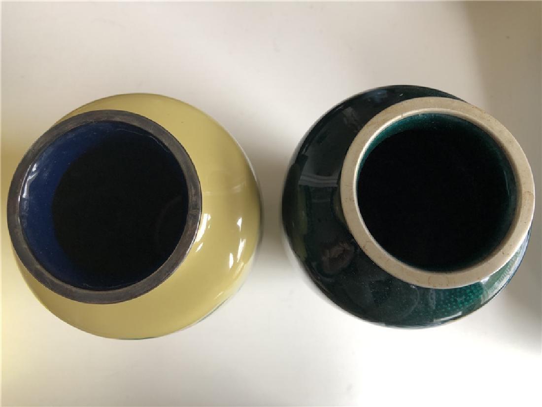 Two pieces of copper cloisonne vase - 2